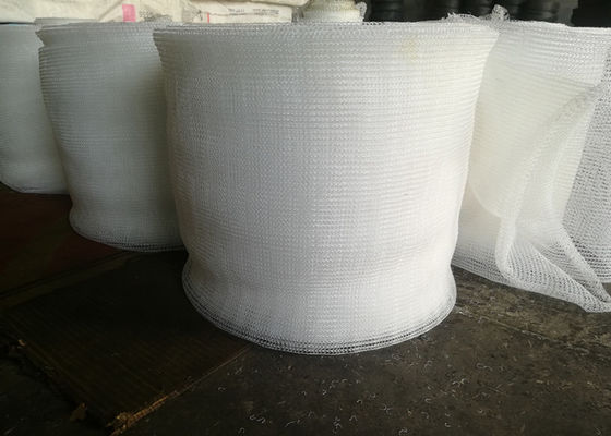 Cina PP Knitted Wire Mesh / Mist Eliminator Mesh Excellent Corrosion Resistance pabrik